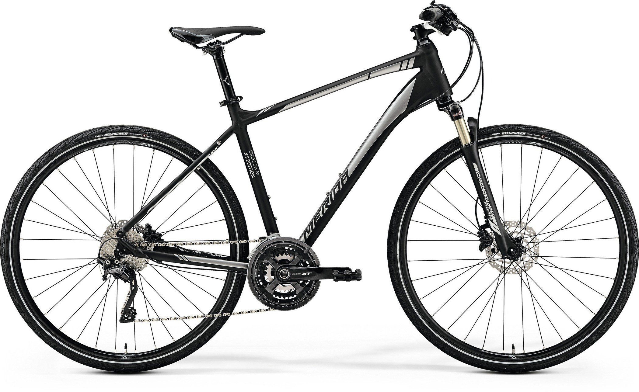 MERIDA CROSSWAY XT-EDITION Matt Black(Shiny Silver) M(51cm) - 2019