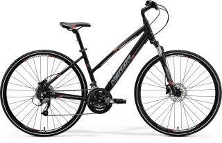 Merida CROSSWAY 40-D Lady Matt Black(Red/Grey) (S) 46cm 2018