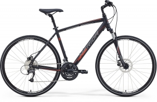 MERIDA CROSSWAY 40-D Matt Black(Red/Grey) S-M (48cm) 2018
