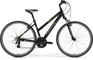 Merida CROSSWAY 15-V Matt Black(Yellow/Grey) M(50L) 2018